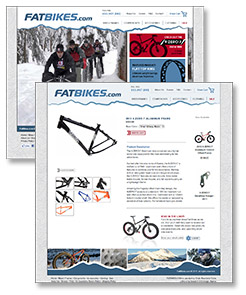 Image of fatbikes.com website pages