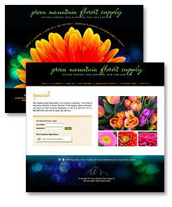 Image of Green Mountain Floris Supply Inc. website pages