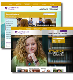 New web site St. Michaels College