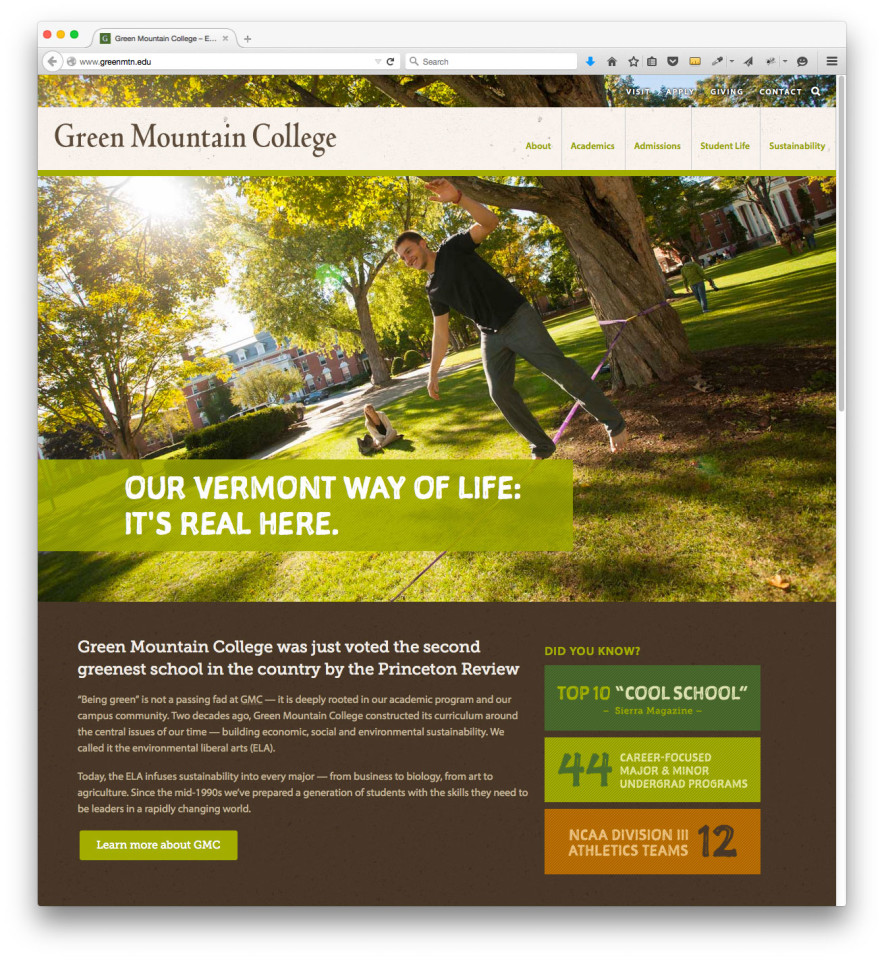 gmc-college-website-screenshot
