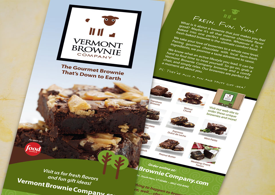 Vermont Brownie Company rack card