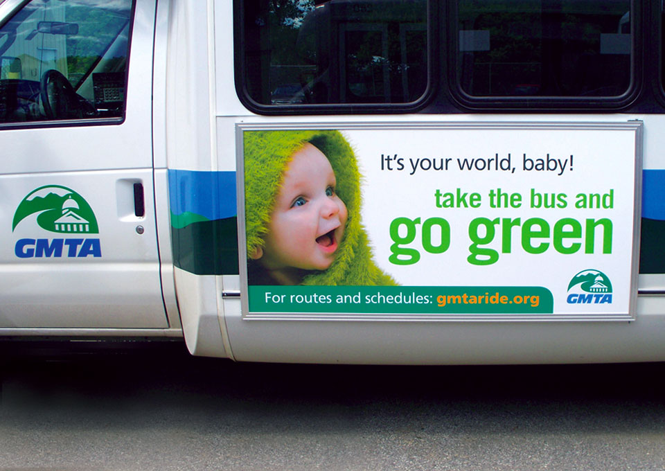 Green Mountain Transit Agency bus ad