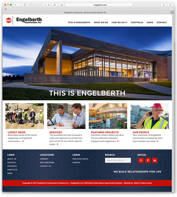A website built for Engelberth