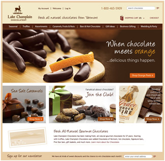 Lake Champlain Chocolates web site