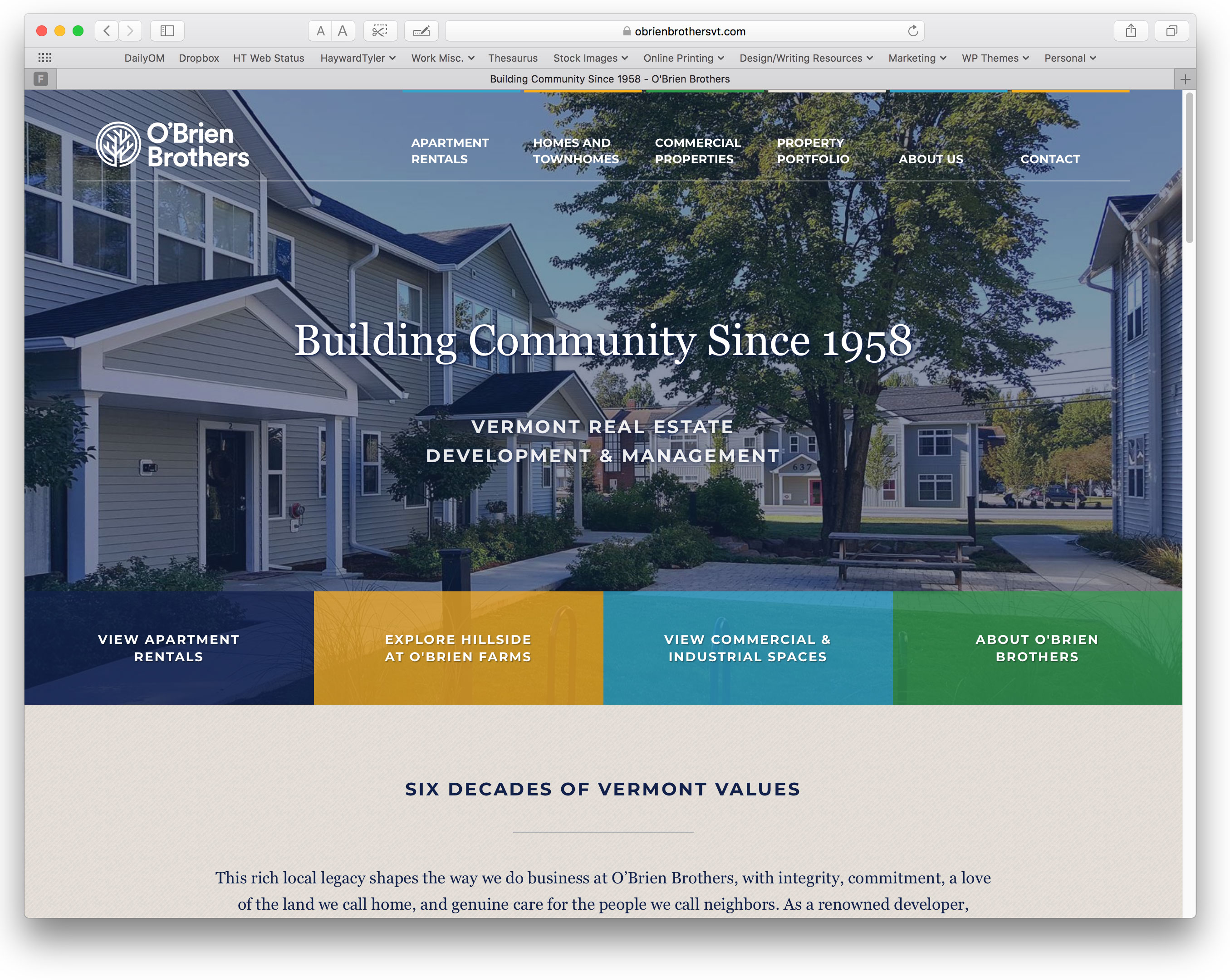 A new site for obrien brothers