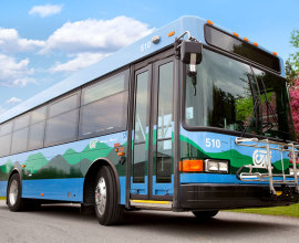 Chittenden County Transportation Authority bus wrap