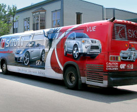 Saturn bus wrap