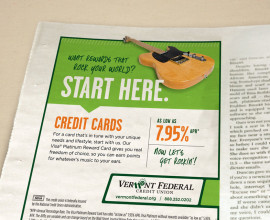 vermont federal credit union print ad