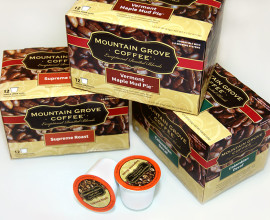 mountain grove coffee packaging