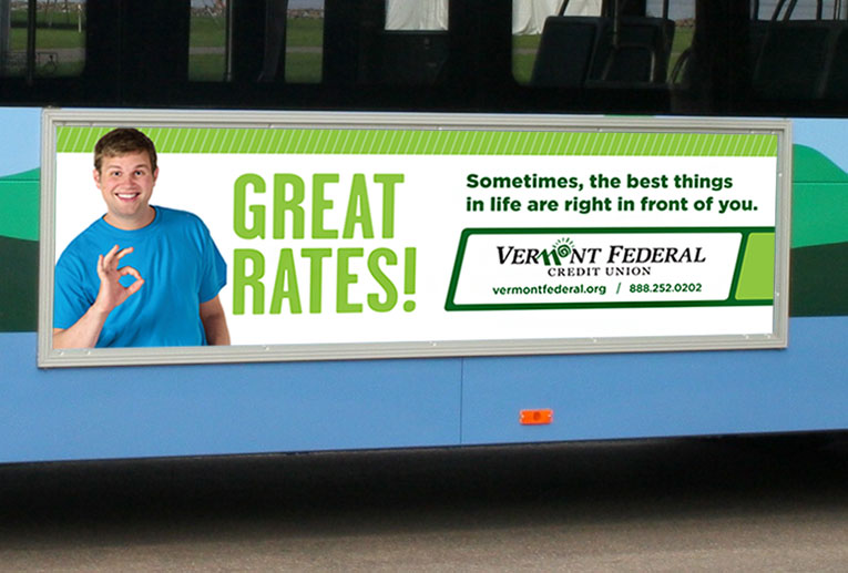 Vermont Federal Bus Ad